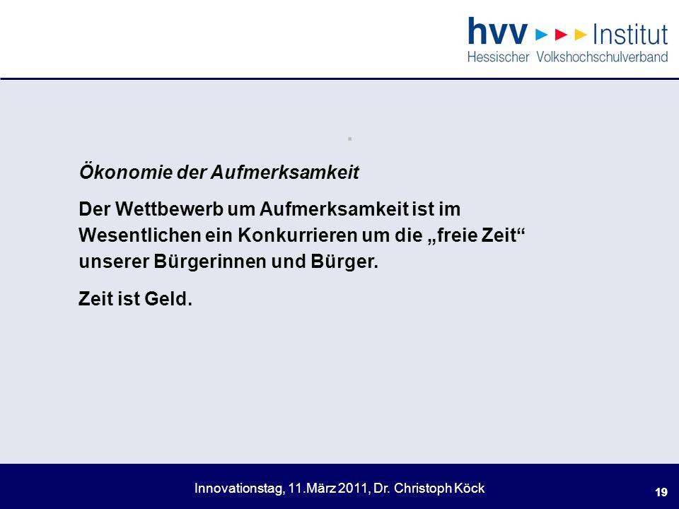 Innovationstag, 11.März 2011, Dr.Christoph Köck 19.
