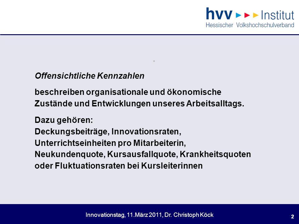 Innovationstag, 11.März 2011, Dr.Christoph Köck 13.