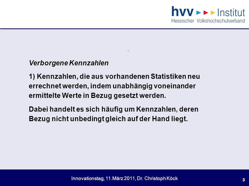 Innovationstag, 11.März 2011, Dr.Christoph Köck 14.