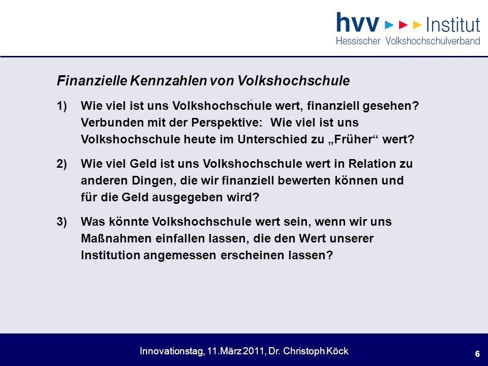 Innovationstag, 11.März 2011, Dr.Christoph Köck 17.