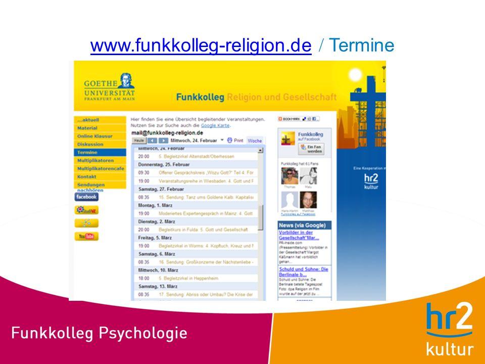 www.funkkolleg-religion.de / Termine