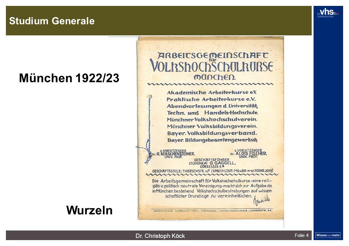 Studium Generale Folie 4 dunkelrotdunkelockerdunkelgraudunkelpetroldunkelliladunkelgründunkeloliv Verfügbare Farben: München 1922/23 Wurzeln Dr.