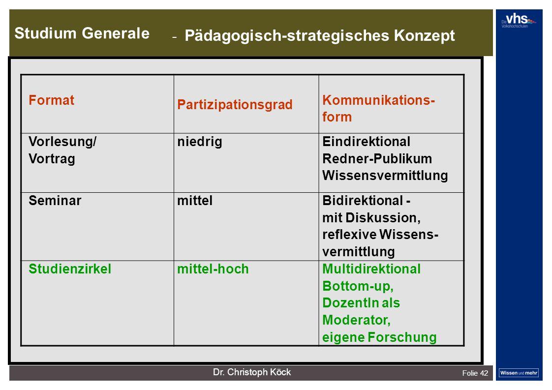 Studium Generale Folie 42 dunkelrotdunkelockerdunkelgraudunkelpetroldunkelliladunkelgründunkeloliv Verfügbare Farben: - Pädagogisch-strategisches Konz