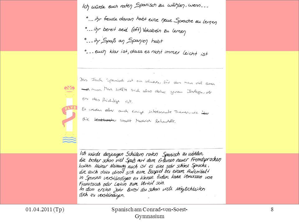 01.04.2011 (Tp)Spanisch am Conrad-von-Soest- Gymnasium 8