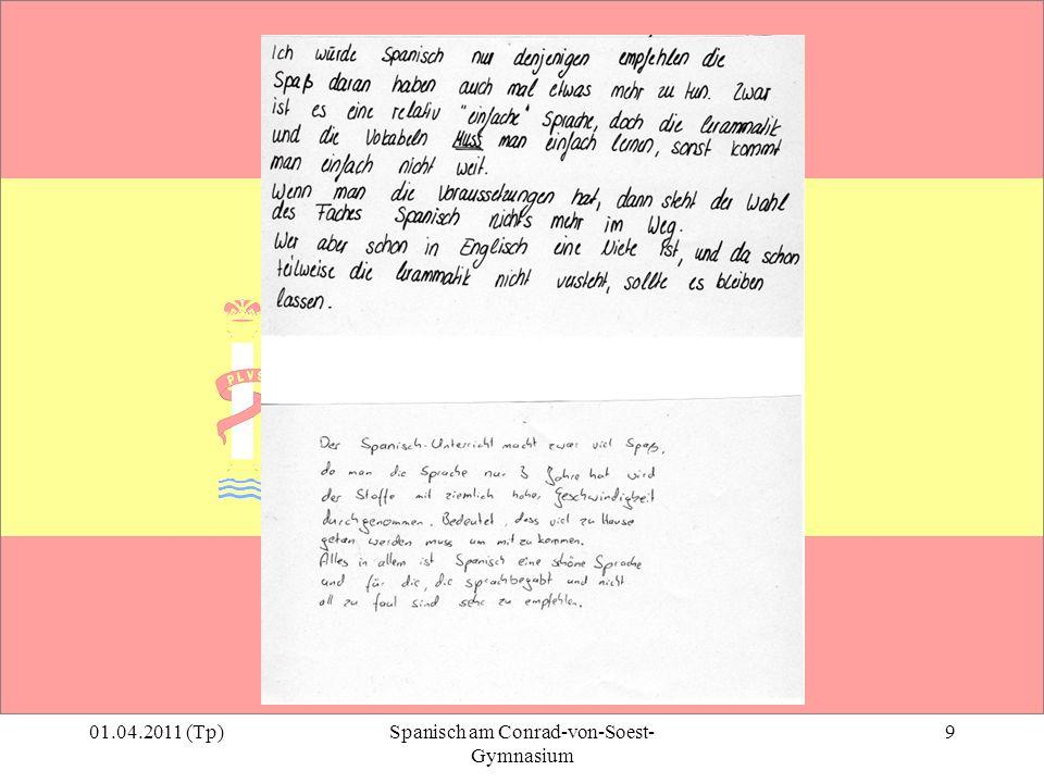01.04.2011 (Tp)Spanisch am Conrad-von-Soest- Gymnasium 9