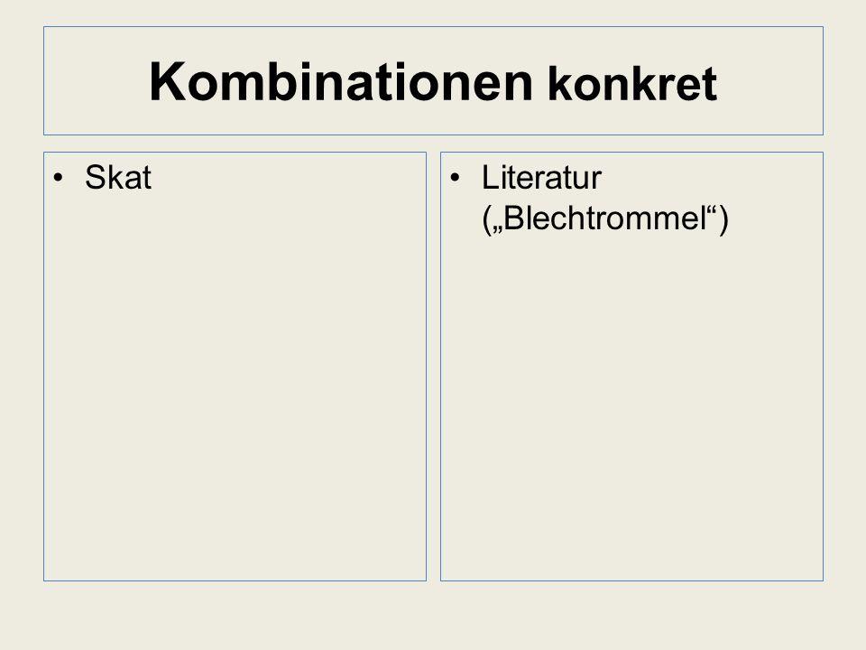 Kombinationen konkret SkatLiteratur (Blechtrommel)