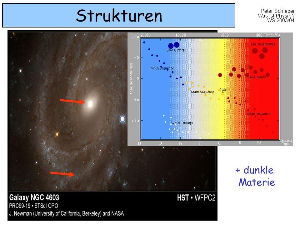 Peter Schleper Was ist Physik ? WS 2003/04 Strukturen + dunkle Materie