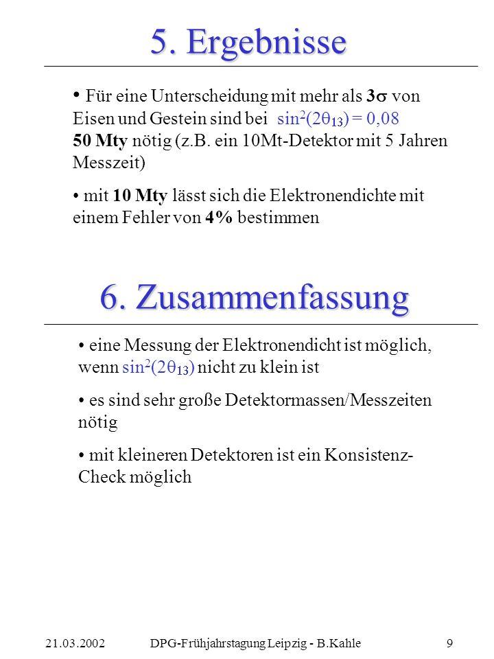 21.03.2002DPG-Frühjahrstagung Leipzig - B.Kahle9 5.