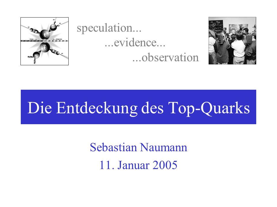 Die Entdeckung des Top-Quarks Sebastian Naumann 11. Januar 2005 speculation......evidence......observation