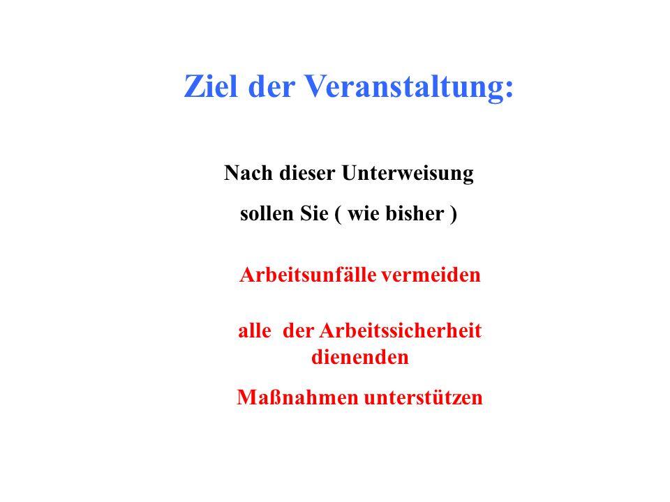 Sicherheitsverantwortliche Personen in Halle 3 (TTF-VUV-FEL) Frau Zapfe Herr Weise Herr Choroba Herr Petersen Herr Jensen Herr Proch Herr Sparr (Halleningenieur) MKS3 MKS1 -> vergleichbare Regelungen in Geb.