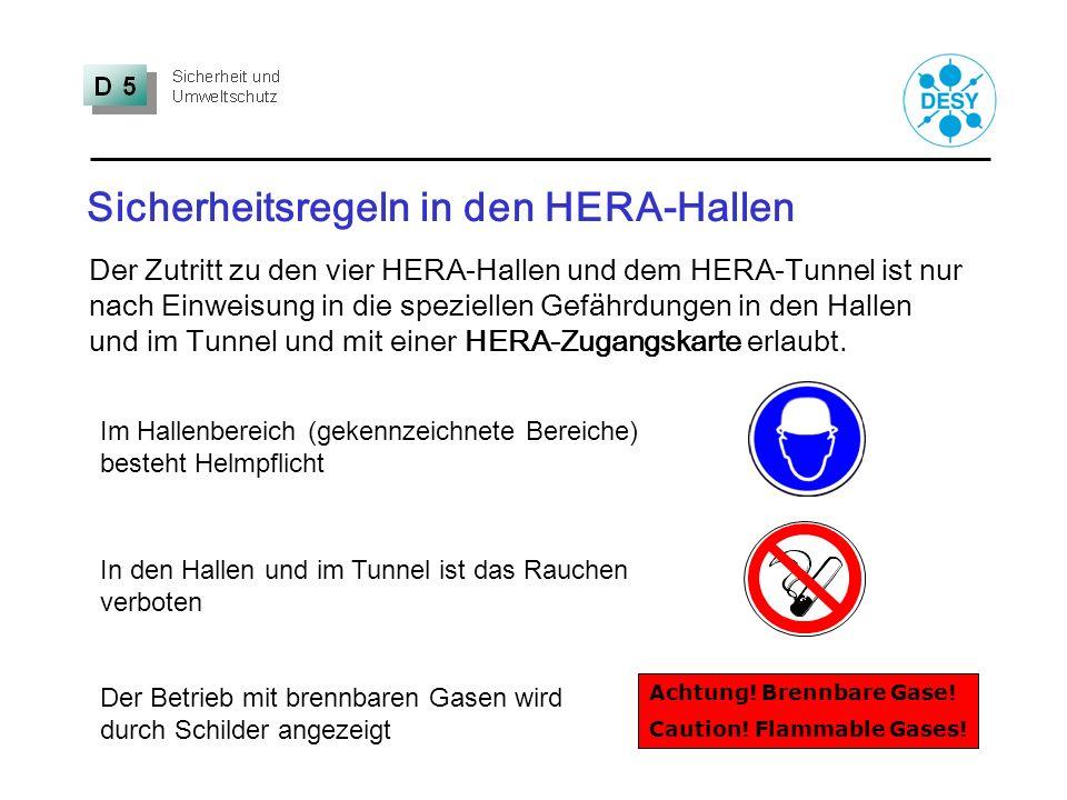 Sicherheitsregeln in den HERA-Hallen Im Hallenbereich (gekennzeichnete Bereiche) besteht Helmpflicht In den Hallen und im Tunnel ist das Rauchen verbo
