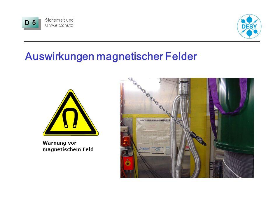 Auswirkungen magnetischer Felder Warnung vor magnetischem Feld