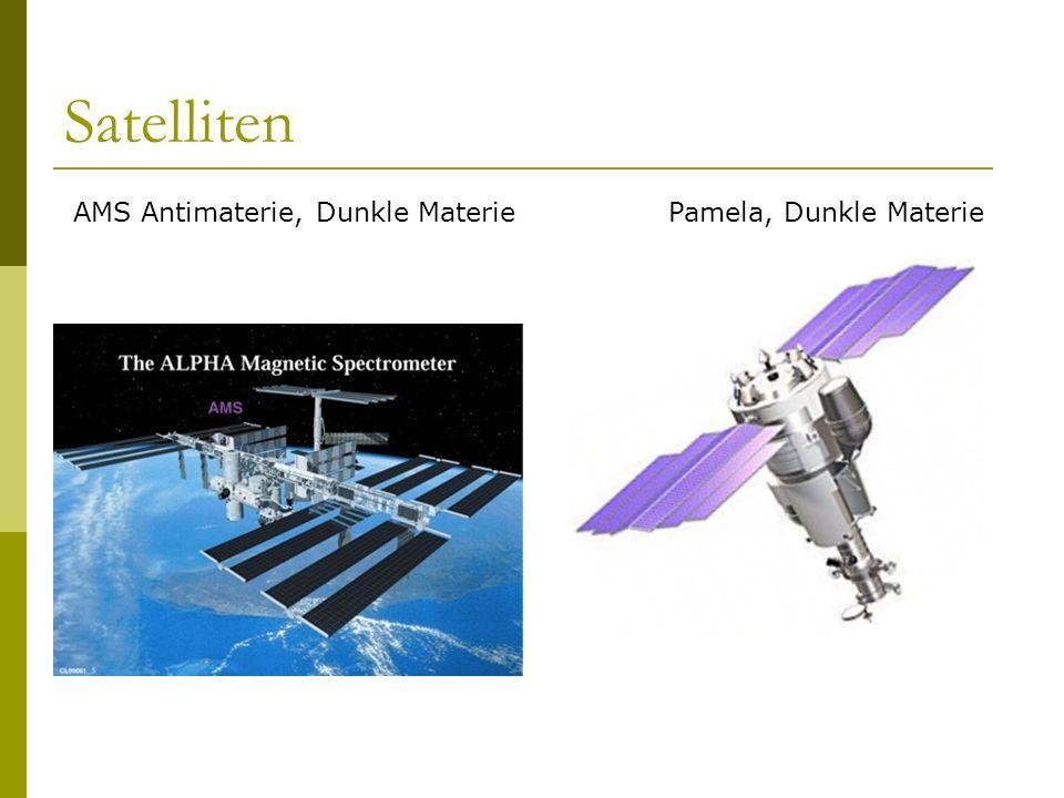 Satelliten AMS Antimaterie, Dunkle MateriePamela, Dunkle Materie