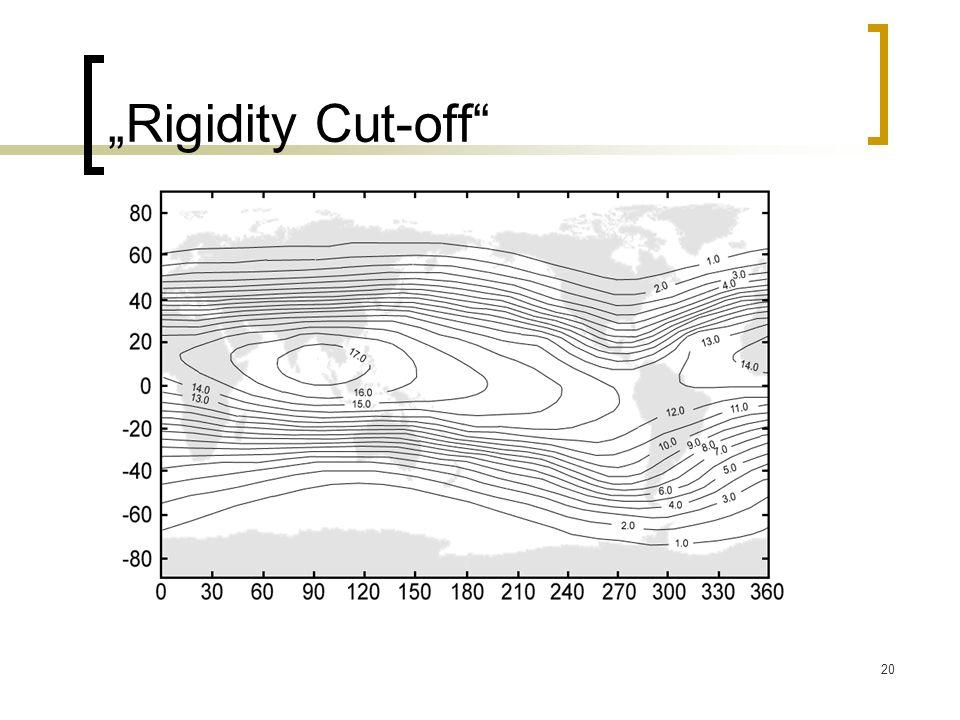 20 Rigidity Cut-off