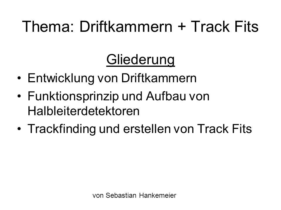 Trackfinding mittels Kalman Filter Abweichung wesentlich kleiner als bei der Gerade Trackfit