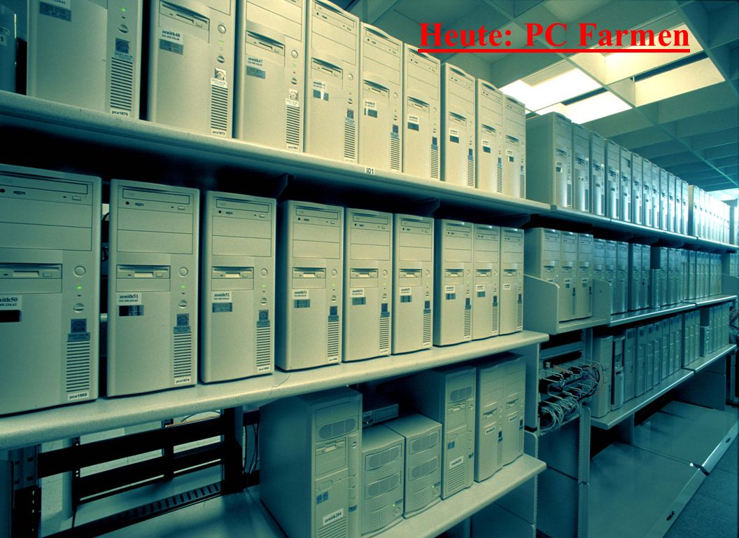 30-Nov-2002R. Mankel, Von der ND zum Grid - Computing in der Hochenergiephysik11 Heute: PC Farmen
