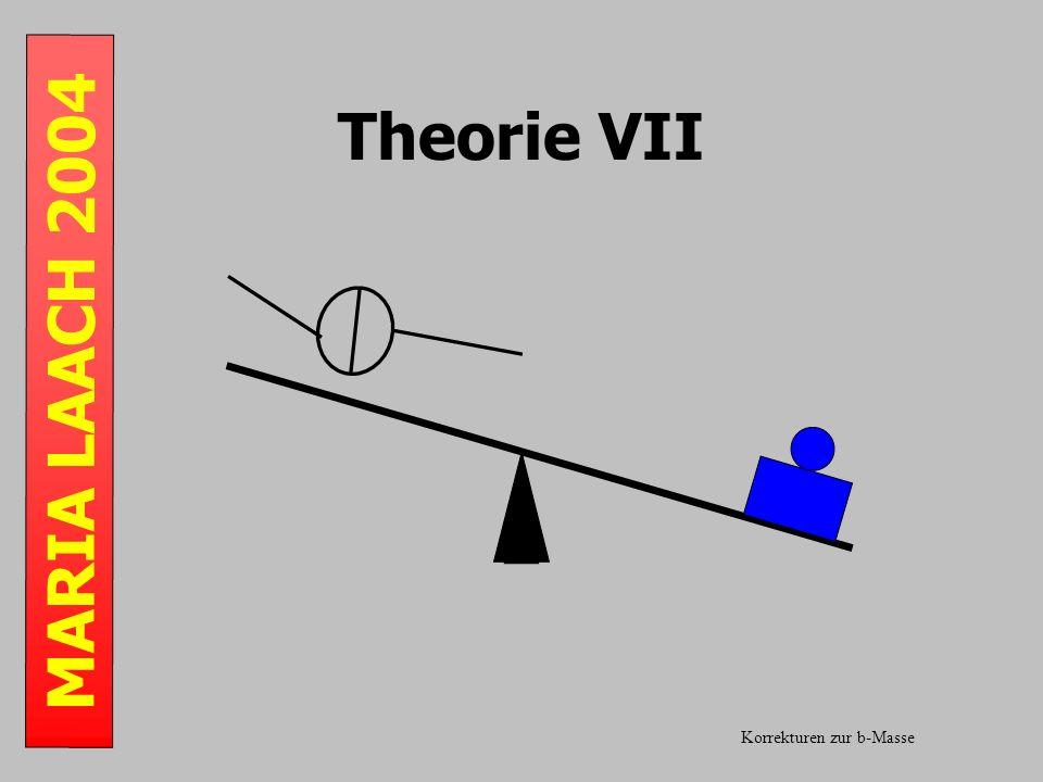 MARIA LAACH 2004 Theorie VII Korrekturen zur b-Masse