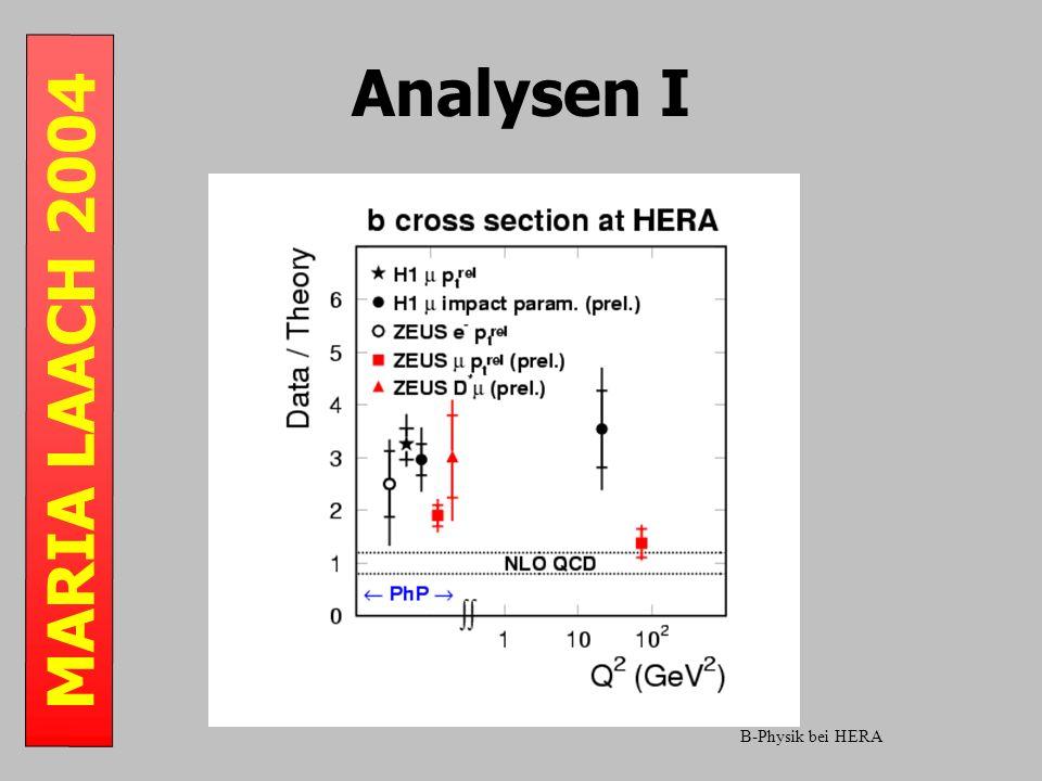 MARIA LAACH 2004 Analysen I B-Physik bei HERA