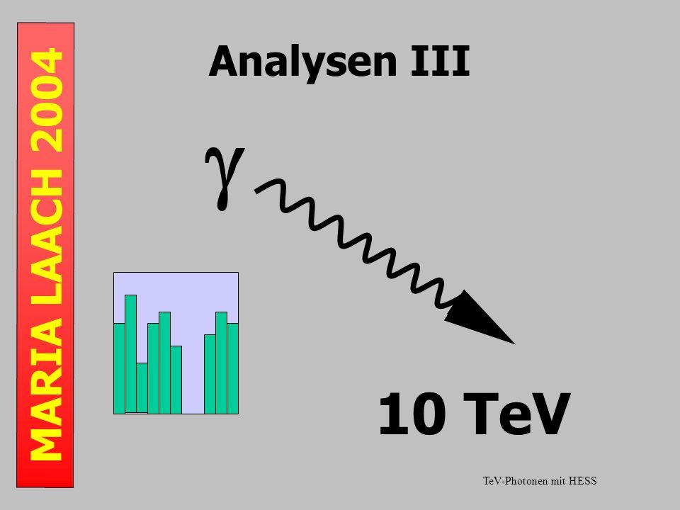 MARIA LAACH 2004 Analysen III 10 TeV TeV-Photonen mit HESS