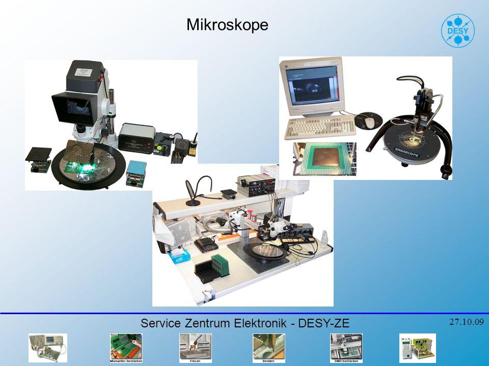 Mikroskope Service Zentrum Elektronik - DESY-ZE 27.10.09