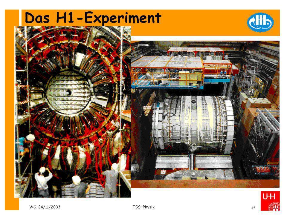 WG, 24/11/2003TSS: Physik24 Das H1-Experiment Impressionen