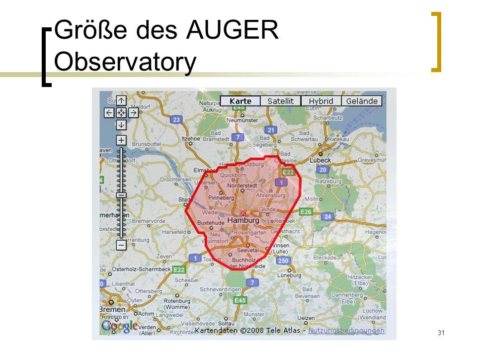 31 Größe des AUGER Observatory