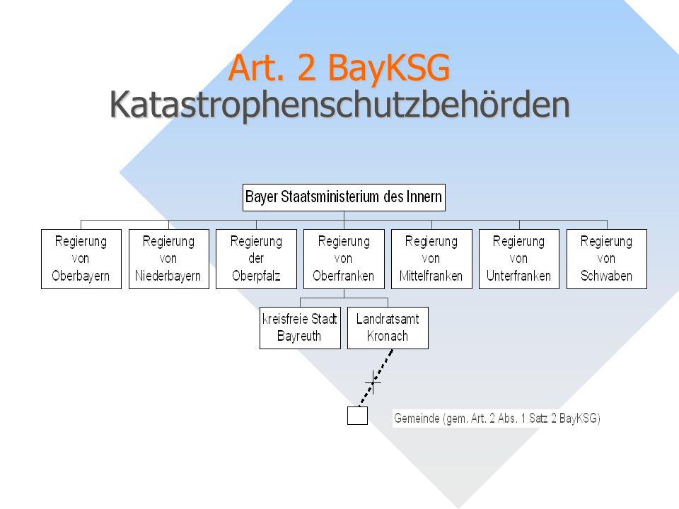 Art. 2 BayKSG Katastrophenschutzbehörden