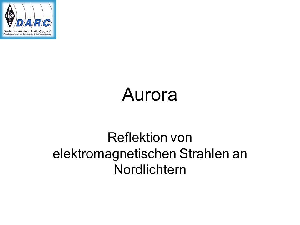 Aurora Reflektion von elektromagnetischen Strahlen an Nordlichtern