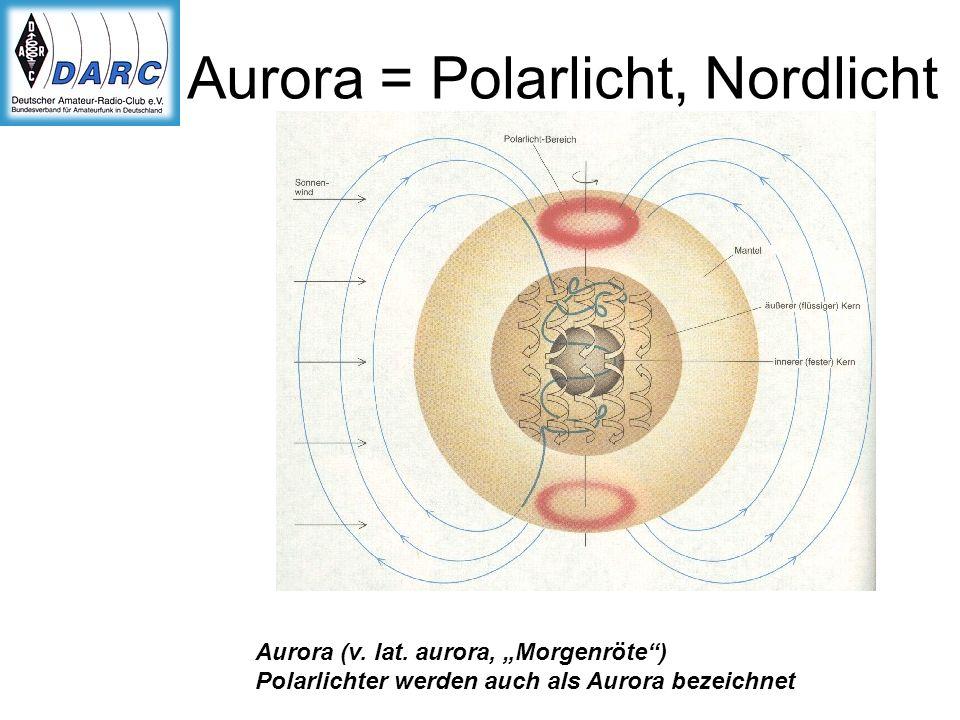 Aurora = Polarlicht, Nordlicht Aurora (v. lat. aurora, Morgenröte) Polarlichter werden auch als Aurora bezeichnet