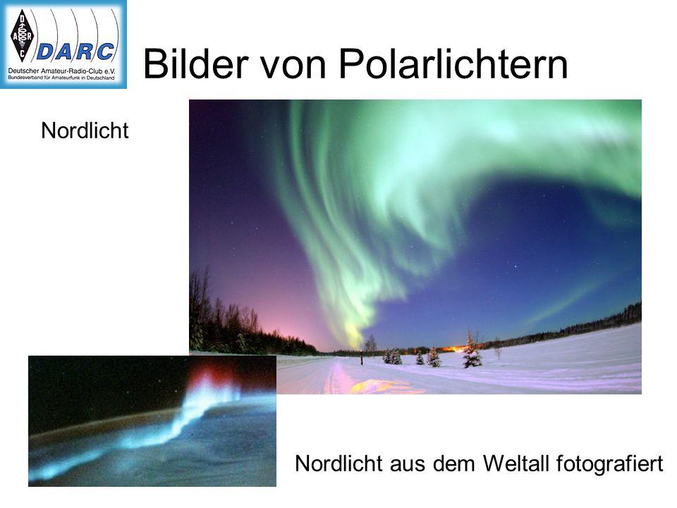 Bilder von Polarlichtern Nordlicht Nordlicht aus dem Weltall fotografiert