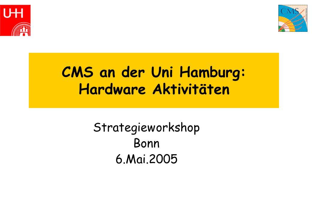 CMS an der Uni Hamburg: Hardware Aktivitäten Strategieworkshop Bonn 6.Mai.2005