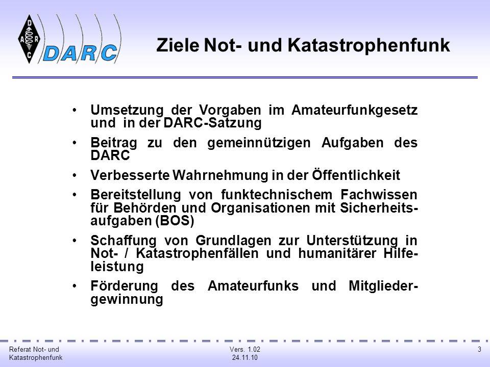 Referat Not- und Katastrophenfunk Vers.