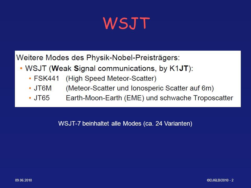 09.06.2010©DJ6LB/2010 - 13 ALL_WSPR.txt (ex: ALL_MEPT.txt) 1.Date 2.UTC 3.Relative Quality of establishing Sync 4.S/N [dB/2500Hz] 5.DT [s] 6.Frequenz [MHz] 7.Dekodierter Text 8.Frequenzdrift [Hz/Min] 9.Decoder Cycles required for successful decode 10.Time tweaking requ´d.