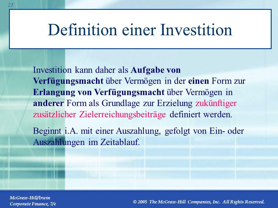 McGraw-Hill/Irwin Corporate Finance, 7/e © 2005 The McGraw-Hill Companies, Inc. All Rights Reserved. 24 7 Finanzierungsarten