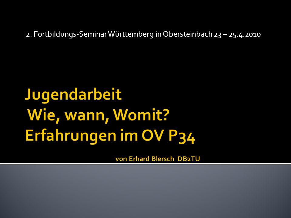 1.Warum Jugendarbeit. 2. Vorstellung der Jugendarbeit des OV P34 Albstadt 3.