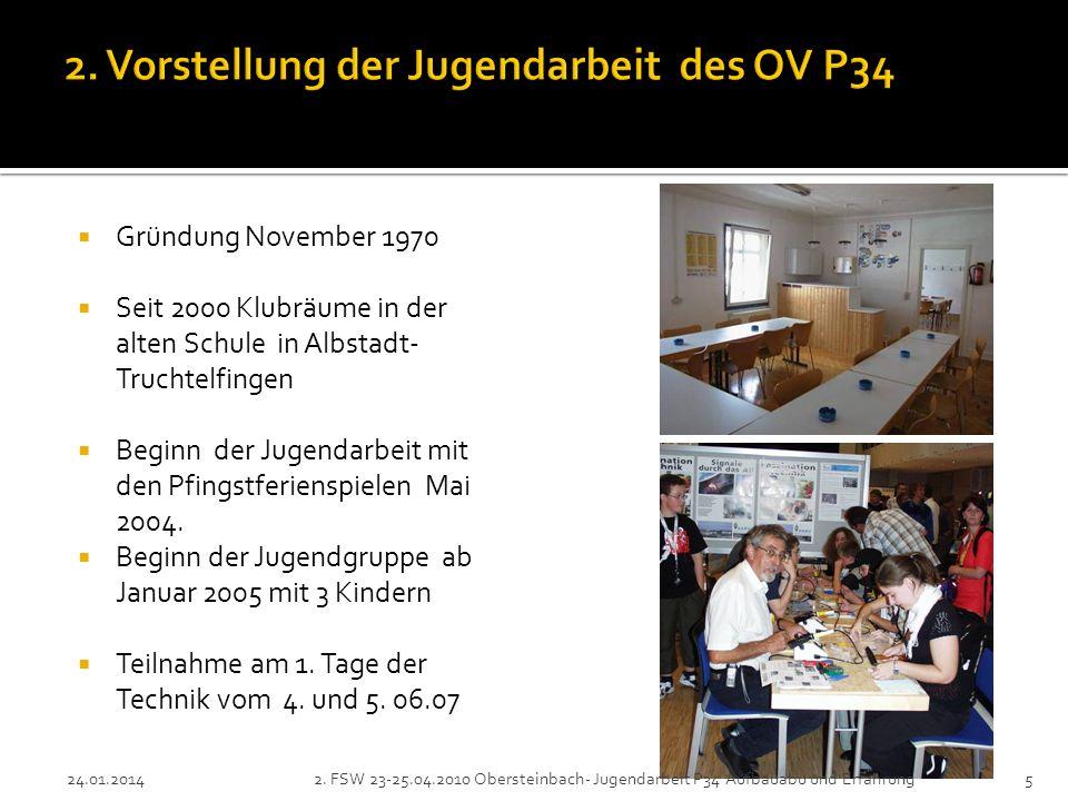 Gründung November 1970 Seit 2000 Klubräume in der alten Schule in Albstadt- Truchtelfingen Beginn der Jugendarbeit mit den Pfingstferienspielen Mai 2004.