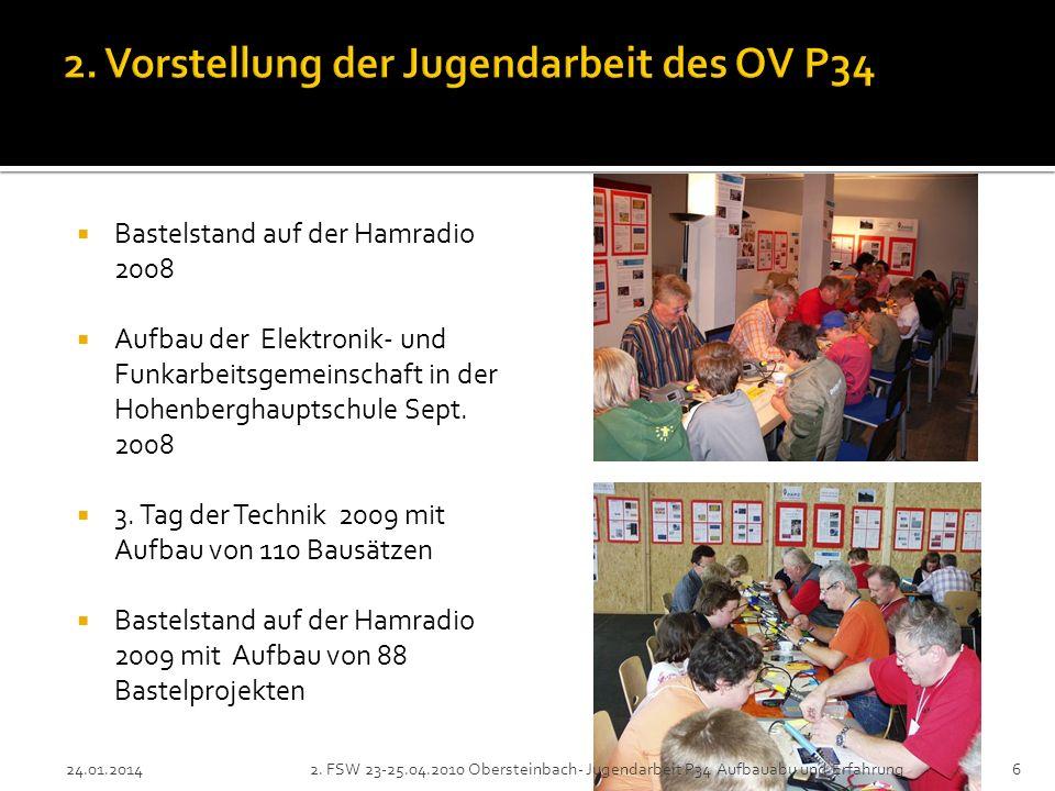 Bastelstand auf der Hamradio 2008 Aufbau der Elektronik- und Funkarbeitsgemeinschaft in der Hohenberghauptschule Sept. 2008 3. Tag der Technik 2009 mi