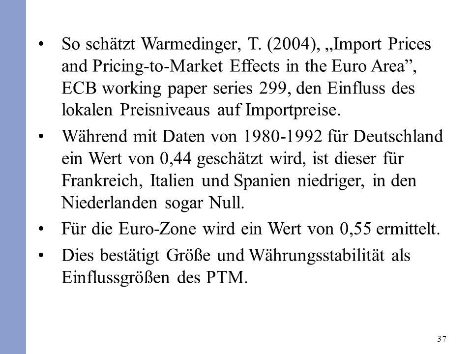 37 So schätzt Warmedinger, T.
