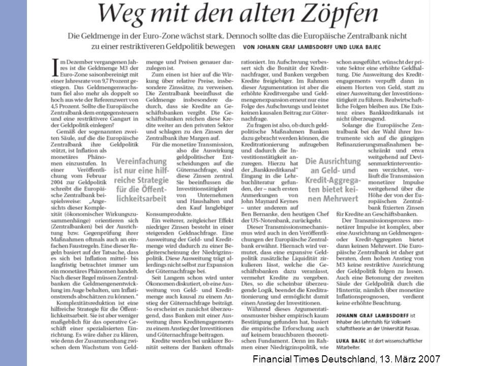 Financial Times Deutschland, 13. März 2007