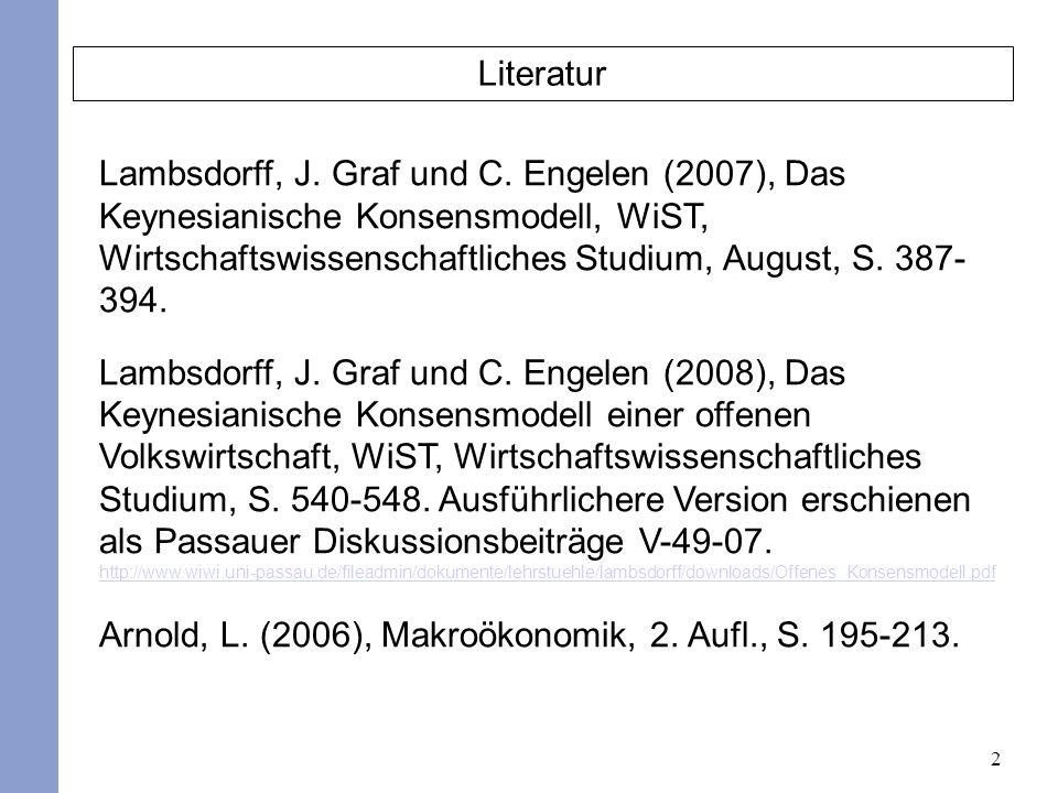 2 Literatur Lambsdorff, J. Graf und C.