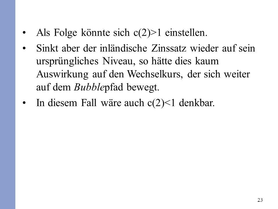 23 Als Folge könnte sich c(2)>1 einstellen.