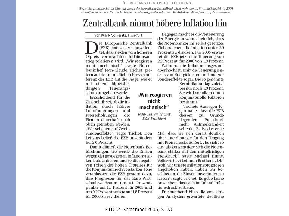 FTD, 2. September 2005, S. 23