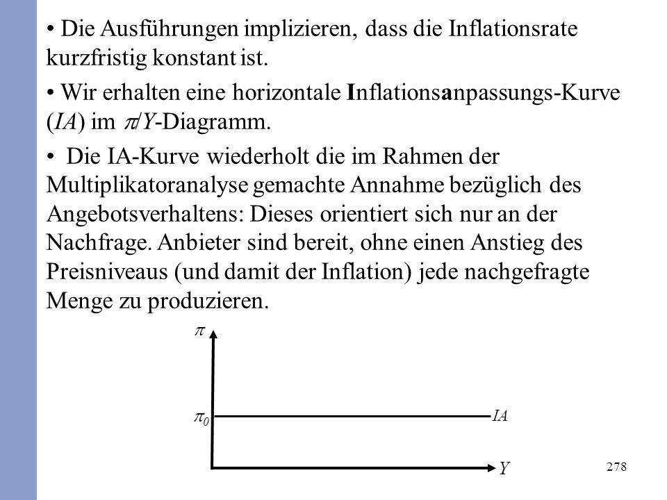 278 Die Ausführungen implizieren, dass die Inflationsrate kurzfristig konstant ist.