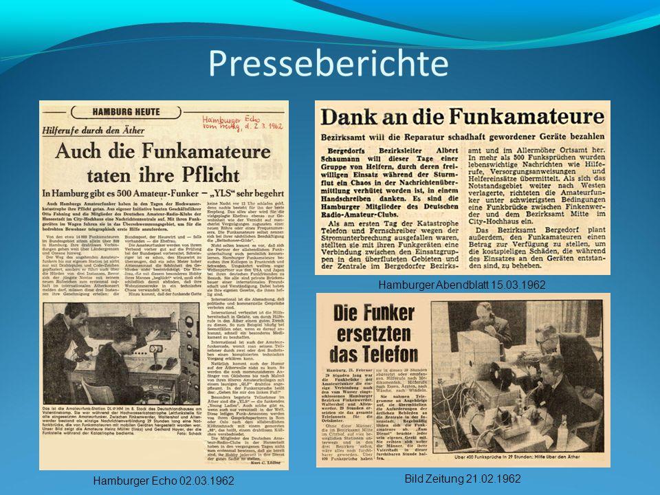 Hamburger Echo 02.03.1962 Bild Zeitung 21.02.1962 Hamburger Abendblatt 15.03.1962