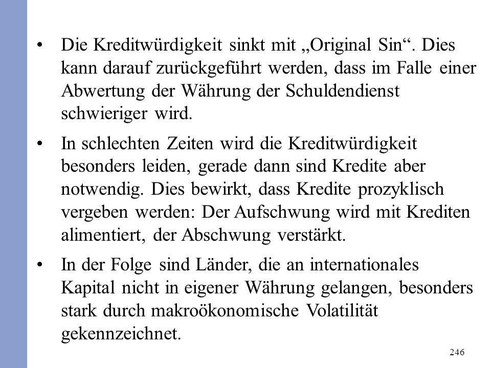 246 Die Kreditwürdigkeit sinkt mit Original Sin.