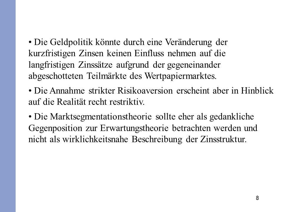 29 Fristentransformation Finanzierungsinstitute (finanzielle Intermediäre; z.B.