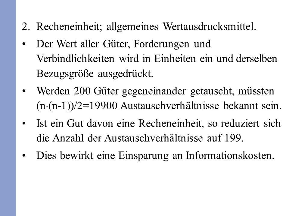 3.Wertaufbewahrungsfunktion; Wertspeicher.