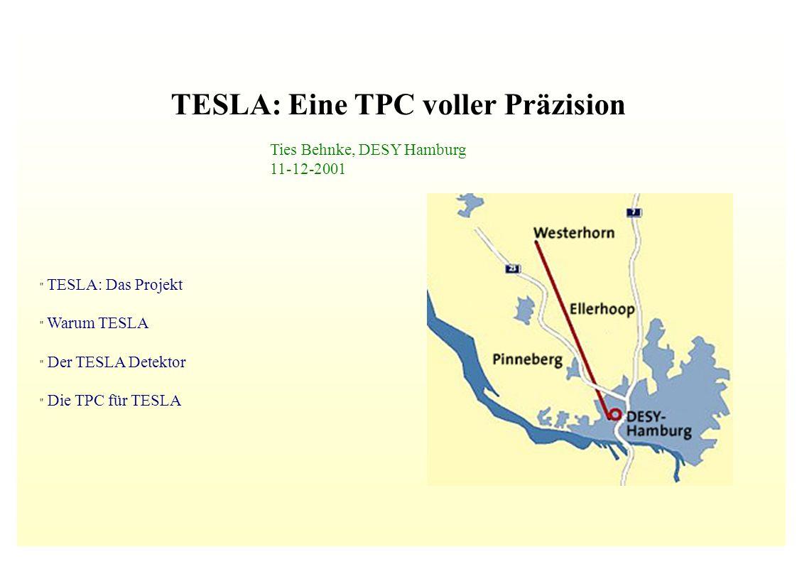 Ties Behnke, DESY Hamburg 11-12-2001 TESLA: Das Projekt Warum TESLA Der TESLA Detektor Die TPC für TESLA TESLA: Eine TPC voller Präzision