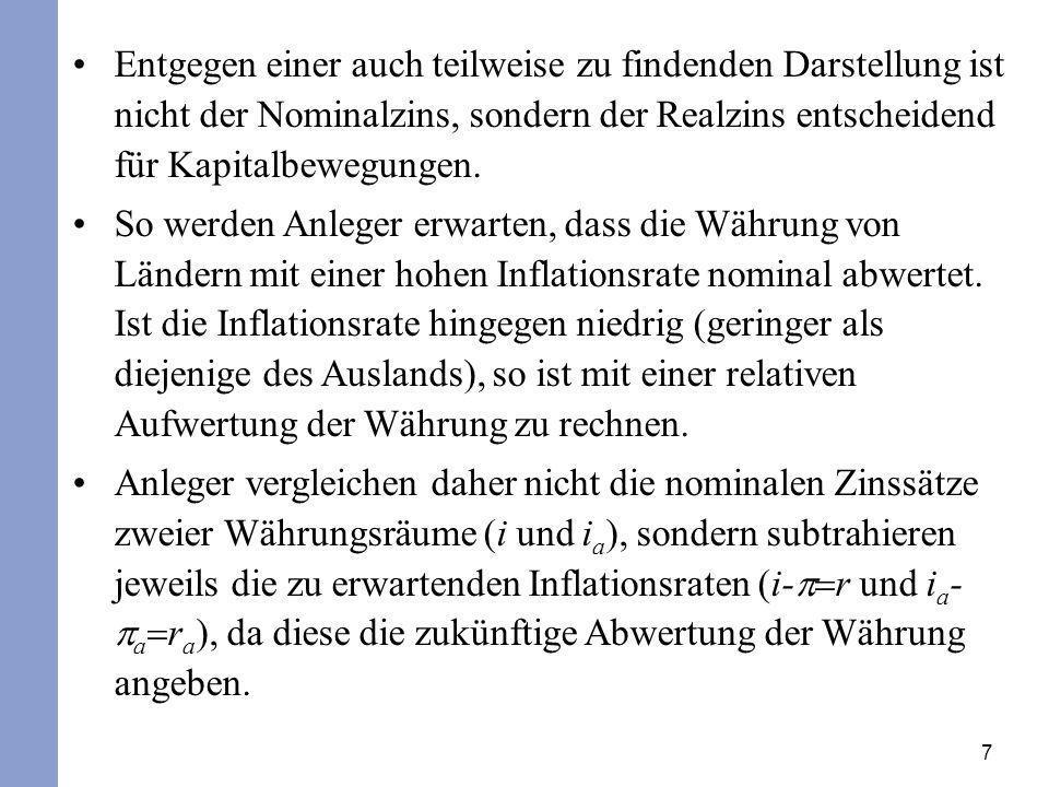 28 In der Zentralbankbilanz werden daher die Währungsreserven zunehmen und die Kredite an die Geschäftsbanken abnehmen.