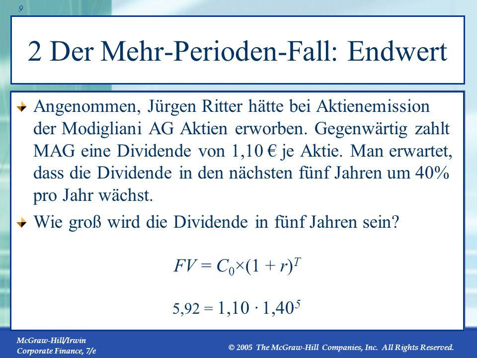 McGraw-Hill/Irwin Corporate Finance, 7/e © 2005 The McGraw-Hill Companies, Inc.